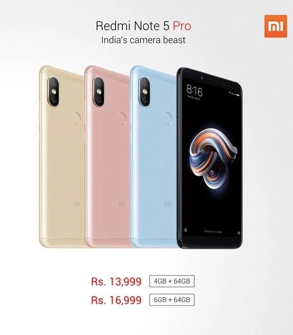 Цена Xiaomi Redmi Note 5 Pro