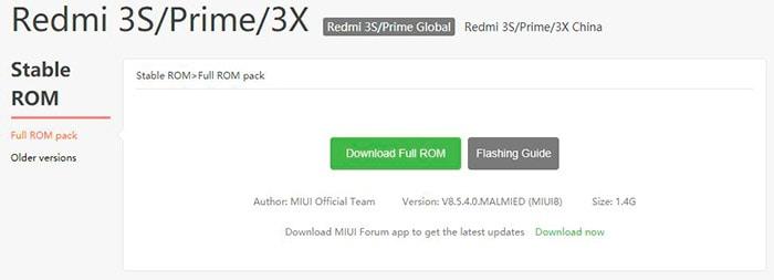 MIUI 9.2.2.0 пока отсутствует на официальном сайте