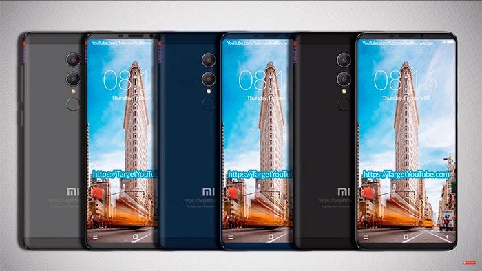 Три цвета Xiaomi Redmi 5 Note