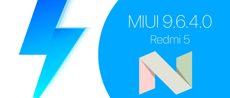 MIUI 9.6.4.0 для Redmi 5