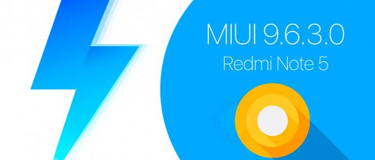 MIUI 9.6.3.0 для Redmi Note 5