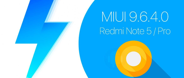 Обновление 9.6.4.0 для Redmi Note 5 Pro